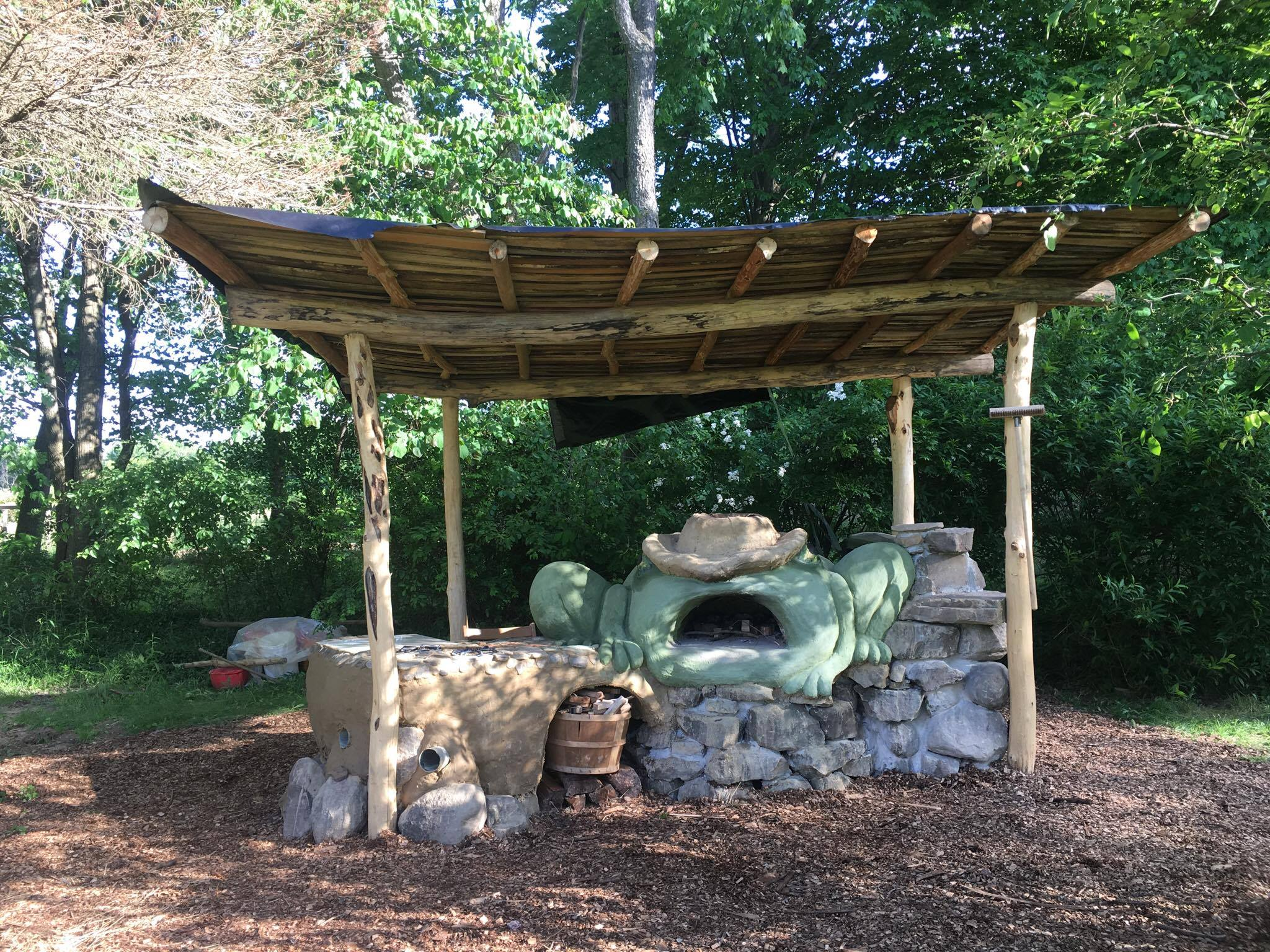 Crownpoint Ecology Center Outdoor Earthen Cob Kitchen