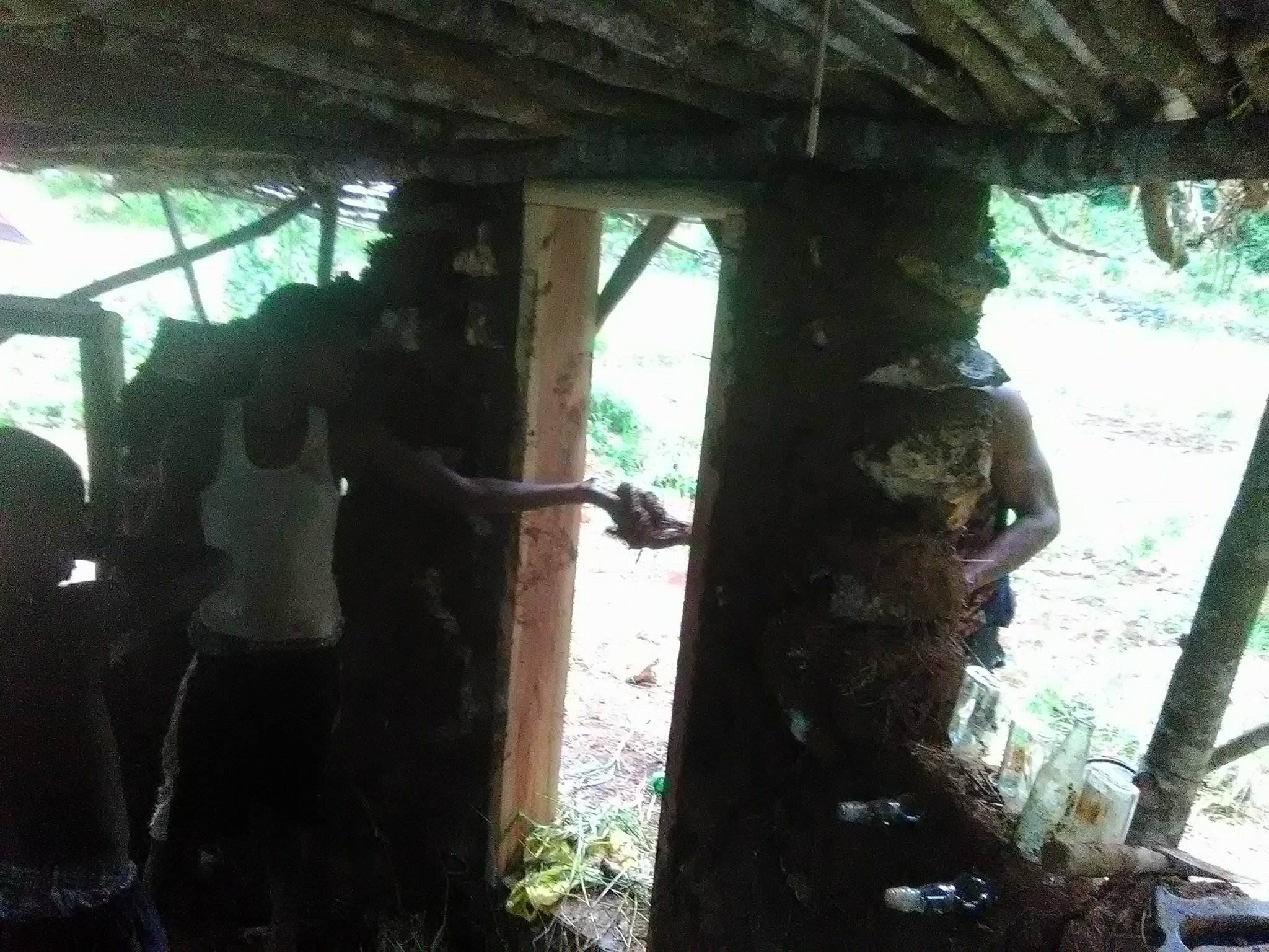 Primitive Cob Hut Interior