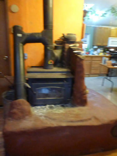 Wood Stove connected to a mass bench