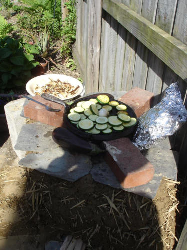 Cooking on the Rocket Stove