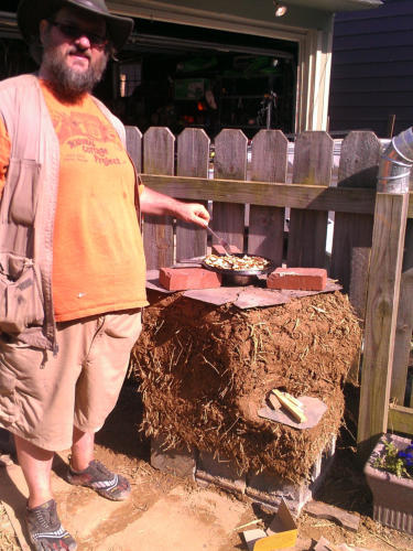 Using the Rocket Stove
